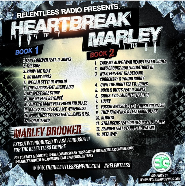 Heartbreak Marley Tracklist Back Cover